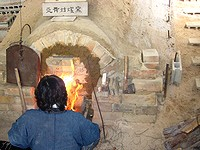 窖窯(あながま)の火入れ